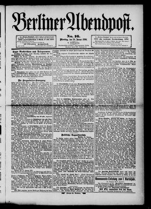 Berliner Abendpost vom 20.01.1890