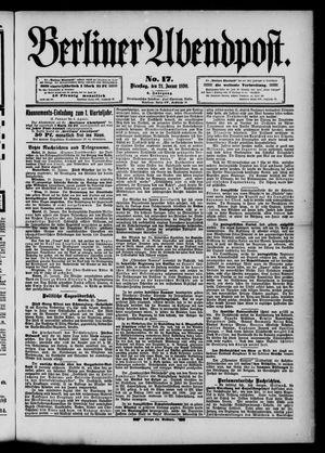 Berliner Abendpost vom 21.01.1890