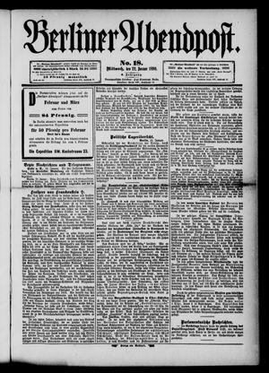Berliner Abendpost vom 22.01.1890