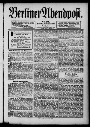 Berliner Abendpost vom 23.01.1890