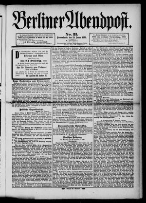 Berliner Abendpost vom 25.01.1890