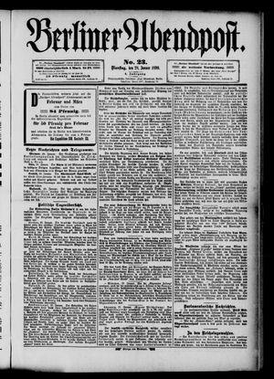 Berliner Abendpost vom 28.01.1890