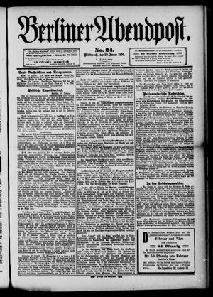 Berliner Abendpost vom 29.01.1890
