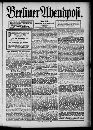 Berliner Abendpost vom 30.01.1890