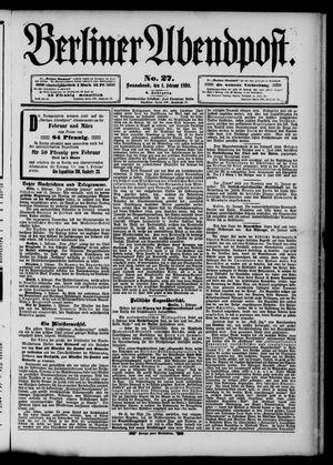 Berliner Abendpost vom 01.02.1890