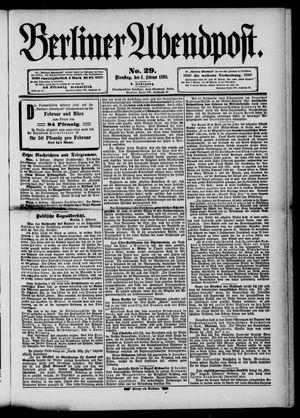 Berliner Abendpost vom 04.02.1890