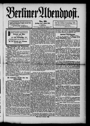 Berliner Abendpost vom 07.02.1890