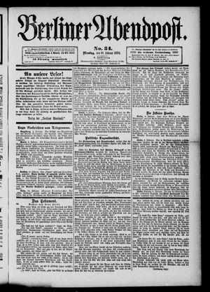 Berliner Abendpost vom 10.02.1890