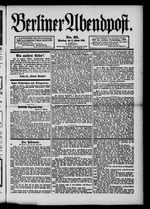 Berliner Abendpost vom 11.02.1890