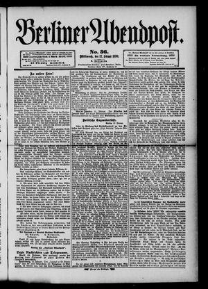 Berliner Abendpost vom 12.02.1890