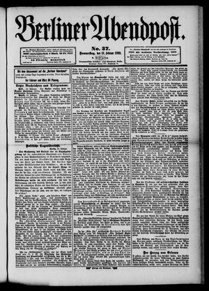 Berliner Abendpost vom 13.02.1890