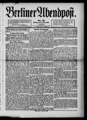 Berliner Abendpost vom 18.02.1890