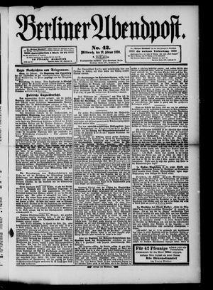 Berliner Abendpost vom 19.02.1890