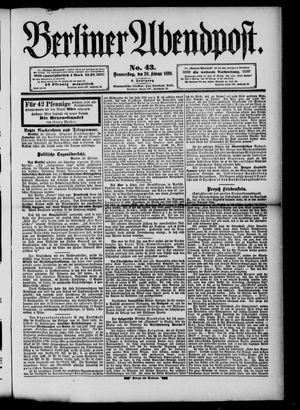 Berliner Abendpost vom 20.02.1890