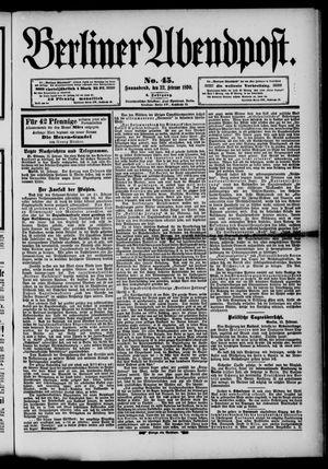 Berliner Abendpost vom 22.02.1890