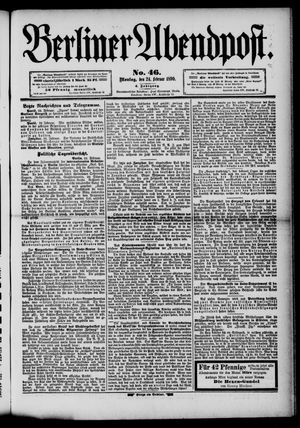 Berliner Abendpost vom 24.02.1890