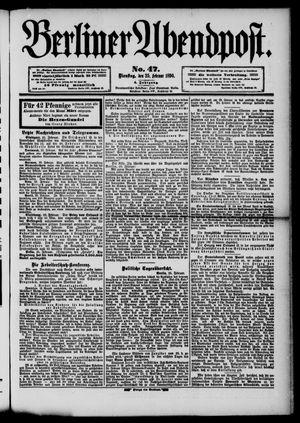 Berliner Abendpost vom 25.02.1890
