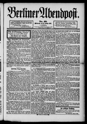 Berliner Abendpost vom 26.02.1890