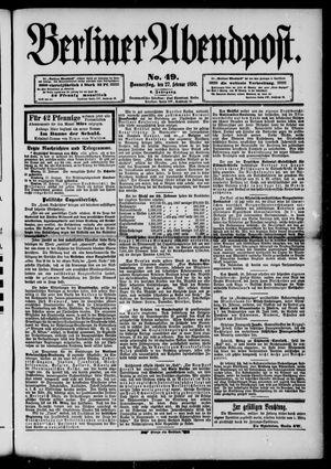 Berliner Abendpost vom 27.02.1890