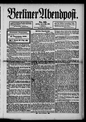 Berliner Abendpost vom 14.03.1890