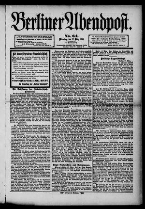 Berliner Abendpost vom 17.03.1890