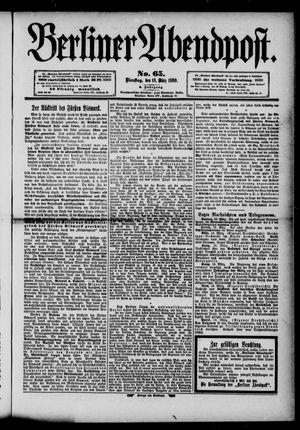 Berliner Abendpost vom 18.03.1890
