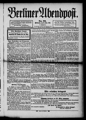 Berliner Abendpost vom 26.03.1890