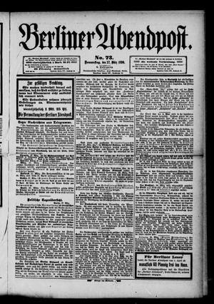 Berliner Abendpost vom 27.03.1890