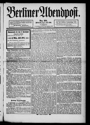 Berliner Abendpost vom 02.04.1890