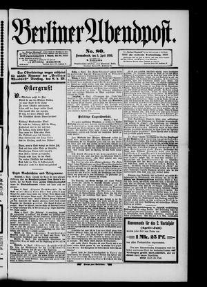 Berliner Abendpost vom 05.04.1890