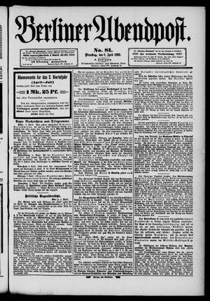 Berliner Abendpost vom 07.04.1890
