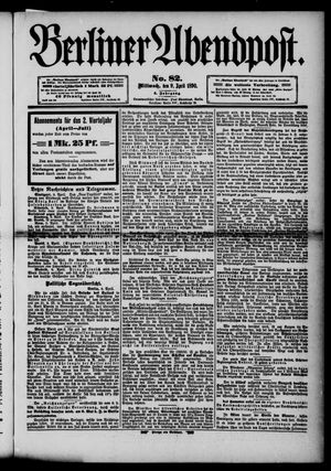 Berliner Abendpost vom 09.04.1890