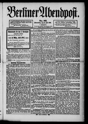Berliner Abendpost vom 10.04.1890