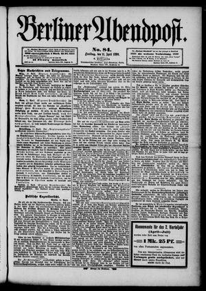 Berliner Abendpost vom 11.04.1890