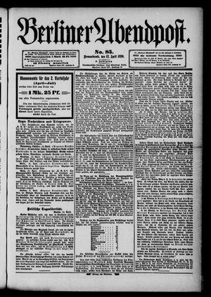 Berliner Abendpost vom 12.04.1890