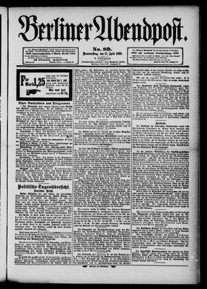 Berliner Abendpost vom 17.04.1890