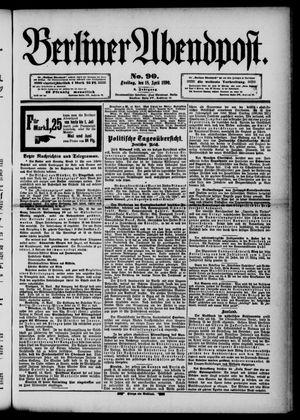 Berliner Abendpost vom 18.04.1890