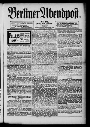 Berliner Abendpost vom 21.04.1890
