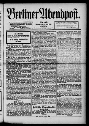 Berliner Abendpost vom 22.04.1890