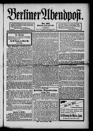 Berliner Abendpost vom 23.04.1890