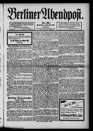Berliner Abendpost vom 24.04.1890
