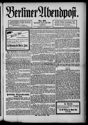 Berliner Abendpost vom 26.04.1890
