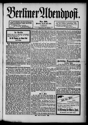 Berliner Abendpost vom 28.04.1890