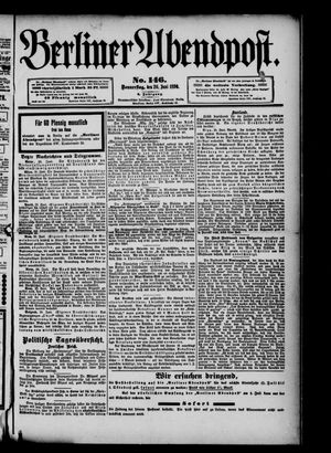 Berliner Abendpost vom 26.06.1890