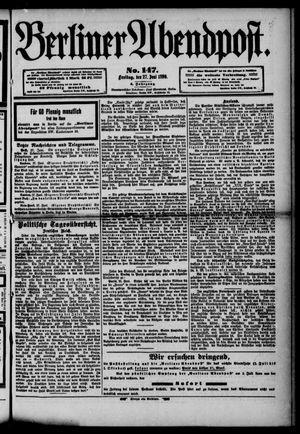 Berliner Abendpost vom 27.06.1890