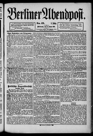 Berliner Abendpost on Jan 21, 1891