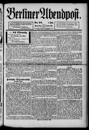 Berliner Abendpost on Jan 29, 1891