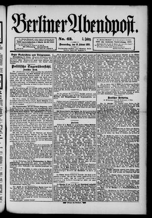 Berliner Abendpost on Feb 19, 1891