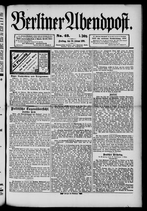 Berliner Abendpost on Feb 20, 1891