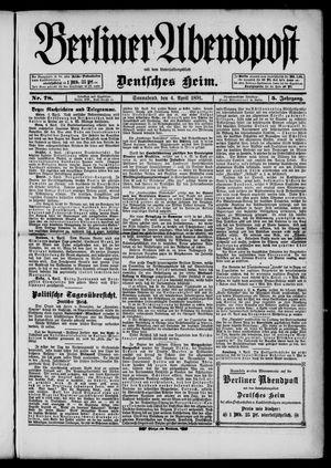 Berliner Abendpost on Apr 4, 1891